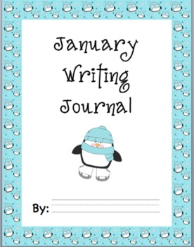 Monthly Themed Journal Prompts, Cover Page, and Writing Paper