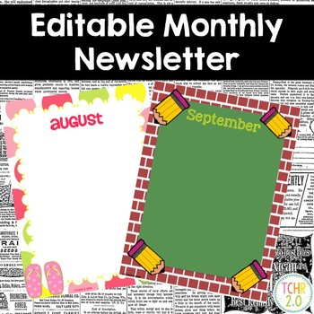 Monthly Themed Newsletter Editable