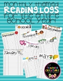 Monthly Themed Reading Logs!