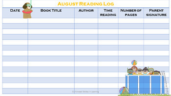 Monthly-Themed Reading Logs