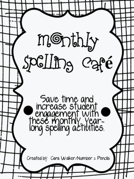 Monthly Themed Spelling Cafes (9)