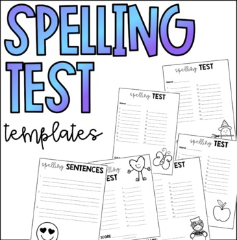 Monthly Themed Spelling Tests