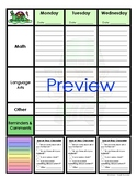Monthly Themed Student Homework Planner: Great for Organization Skills!