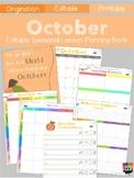 Monthly Themed Teacher Planner (October)