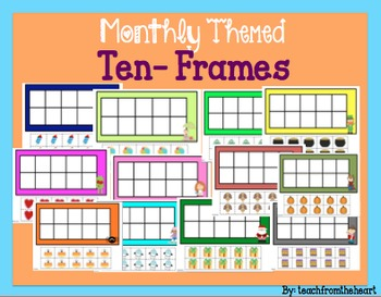Monthly Themed Ten-Frames with Manipulatives!