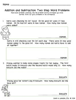 Monthly Themed Two Step Word Problems Bundle