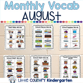 Monthly Vocabulary Word Wall: August