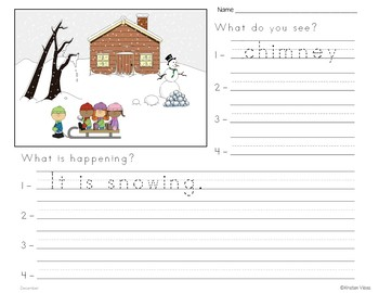 December Vocabulary: Word Wall, Booklet and Activities