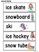 January Vocabulary: Word Wall, Booklet and Activities