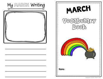March Vocabulary: Word Wall, Booklet and Activities
