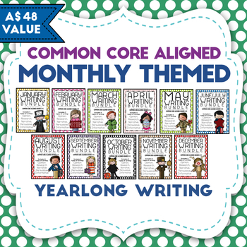 Monthly Themed Writing Bundle- Yearlong!