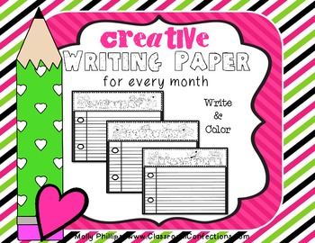 Writing Paper for Every Month