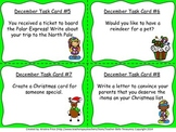 Monthly Themed Writing Task Cards- December