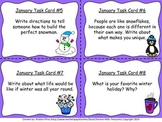 Monthly Themed Writing Task Cards- January