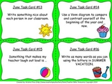 Monthly Themed Writing Task Cards- June