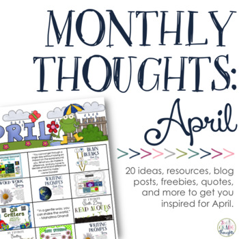 Monthly Thoughts: April
