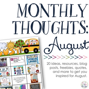 Monthly Thoughts: August