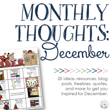 Monthly Thoughts: December
