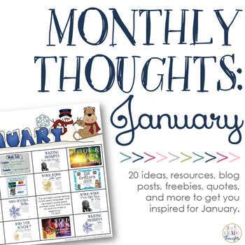 Monthly Thoughts: January