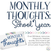 Monthly Thoughts: School Year