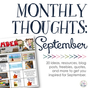 Monthly Thoughts: September