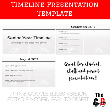 monthly timeline presentation template editable google slides