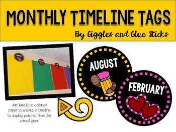 Monthly Timeline Tags {Free!}
