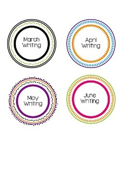Monthly Writing Titles in Circles