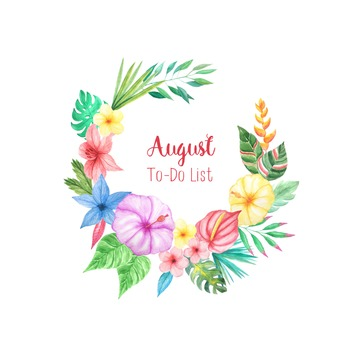 Monthly To Do List - August