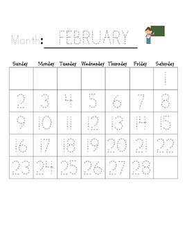 Monthly Traceable Calendar