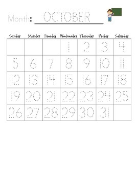 Monthly Traceable Calendar 2014 - 2015