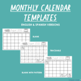 UPDATED: Minimalist Monthly Traceable Calendars (2021 - 20
