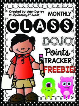 Monthly Tracker for Class DOJO Points