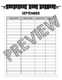 Monthly Trip Tallies (Sign-Out/Sign-In Log for Classroom M