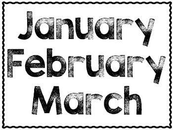 Monthly Tub Labels  FREEBIE