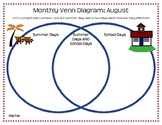 Holiday and Seasonal Monthly Venn Diagram Worksheets - Wit