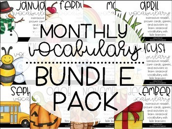 Monthly Vocabulary {BUNDLE PACK}