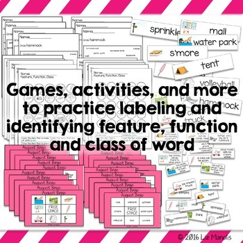 Monthly Vocabulary Units for Special Education Bundle