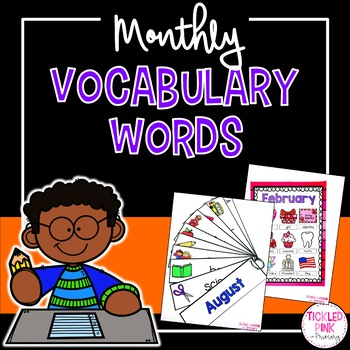 Monthly Vocabulary Word Cards and Posters