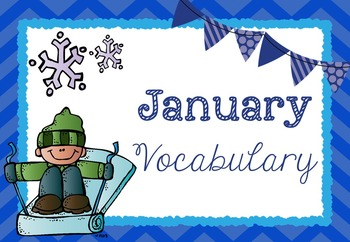 Monthly Vocabulary Word Wall - YEAR LONG BUNDLE