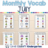 Monthly Vocabulary Word Wall: July