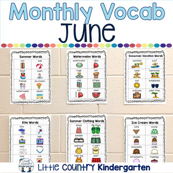 Monthly Vocabulary Word Wall: June