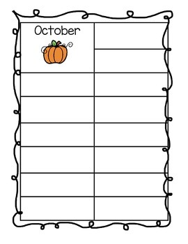 Monthly Vocabulary Words Booklet