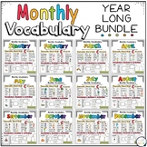 Monthly Themed Vocabulary Year Long BUNDLE
