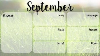 Monthly Wallpaper Organizer, Teacher Organization