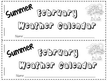 Weather Calendar Journal Worksheet Books