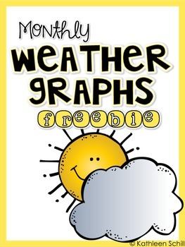 Monthly Weather Graphs *FREEBIE*