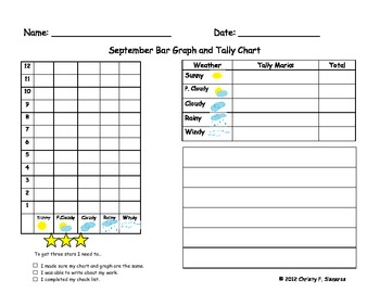 Monthly Weather Graphs and Tally Charts Includes Writing