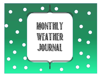 Monthly Weather Journal