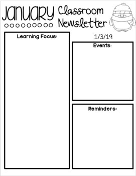 Monthly/Weekly Newsletter Template - EDITABLE